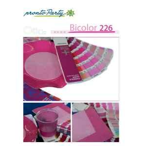 Extra Piatti Piani di Carta a Petalo Bicolore Pink - Fucsia 21 cm