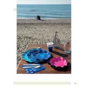 Extra Piatti Piani di Carta a Petalo Ocean 27 cm