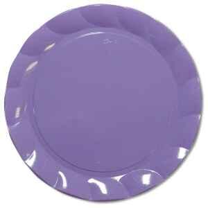 Piatti Piani di Plastica a Petalo Lilla 20 cm 2 confezioni Extra