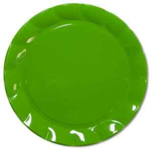 Piatti Piani di Plastica a Petalo Verde 20 cm 2 confezioni Extra
