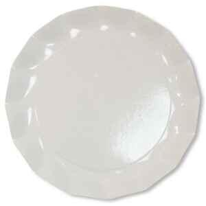 Extra Piatti Piani di Carta a Petalo Bianco 21 cm