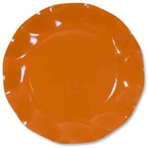 Extra Piatti Piani di Carta a Petalo Arancione 24 cm