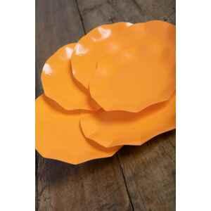 Extra Piatti Piani di Carta Compostabile a Petalo Arancione 27 cm