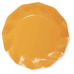 Extra Piatti Piani di Carta Compostabile a Petalo Arancione 21 cm
