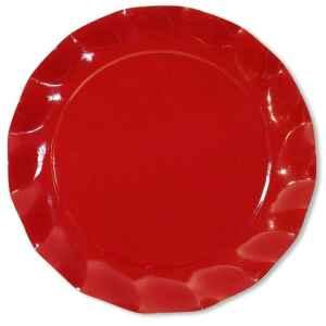 Extra Piatti Piani di Carta a Petalo Rosso 24 cm