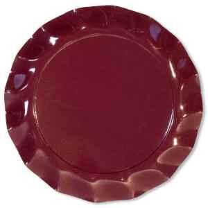 Piatti Piani di Carta a Petalo Bordeaux 32,4 cm Extra