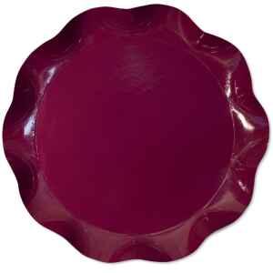 Vassoio Tondo 40 cm Bordeaux 1 Pz Extra