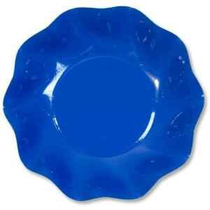 Extra Piatti Fondi di Carta a Petalo Blu Cobalto 24 cm