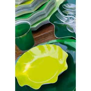 Extra Piatti Piani di Carta a Petalo Verde Lime 27 cm