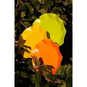 Extra Piatti Piani di Carta Compostabile a Petalo Verde Lime 27 cm