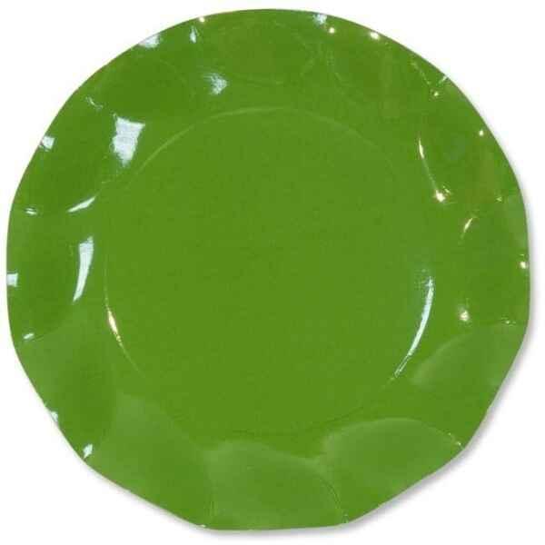 Extra Piatti Piani di Carta a Petalo Verde Prato 24 cm