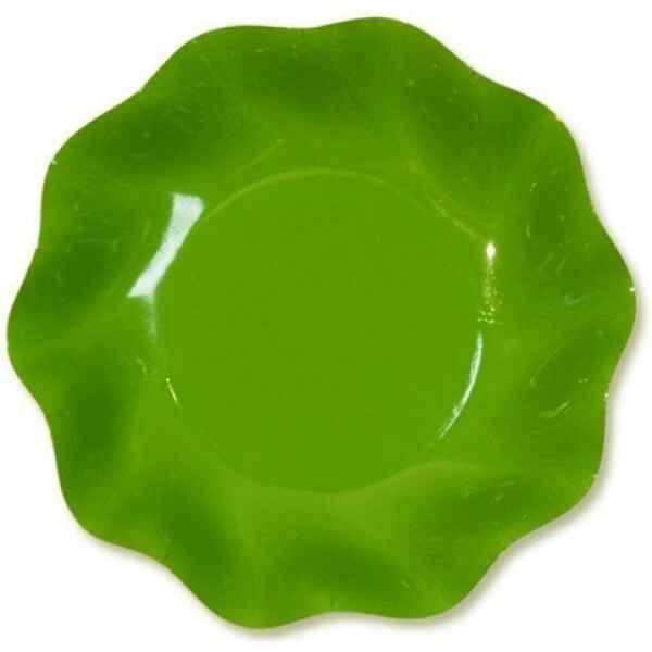 Piatti Fondi di Carta a Petalo Verde Prato 18,5cm Extra