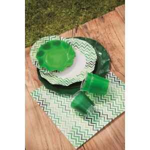 Piatti Piani di Carta a Petalo Verde Scuro 32,4 cm Extra