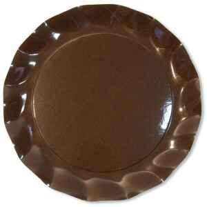 Extra Piatti Piani di Carta a Petalo Marrone Cioccolato 21 cm