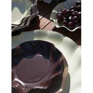 Piatti Piani di Carta a Petalo Marrone Cioccolato 32,4 cm Extra