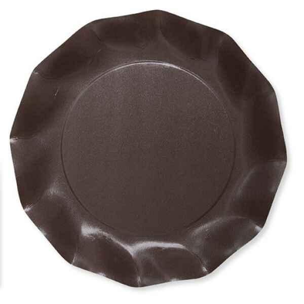 Extra Piatti Piani di Carta Compostabile a Petalo Marrone cioccolato 27 cm