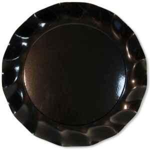 Extra Piatti Piani di Carta a Petalo Nero 21 cm