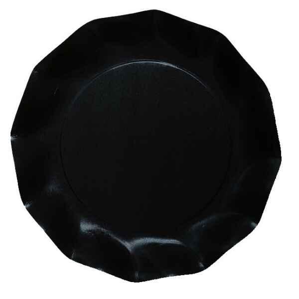 Extra Piatti Piani di Carta Compostabile a Petalo Nero 21 cm
