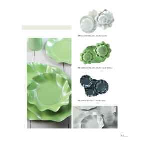 Extra Piatti Piani di Carta a Petalo Verde chiaro Perlato 24 cm