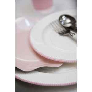 Extra Piatti Piani di Carta a Petalo Rosa Perlato 27 cm