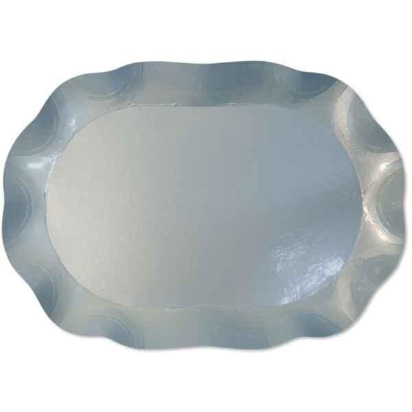 Vassoio Rettangolare Celeste perlato 46 x 31 cm 1 Pz Extra