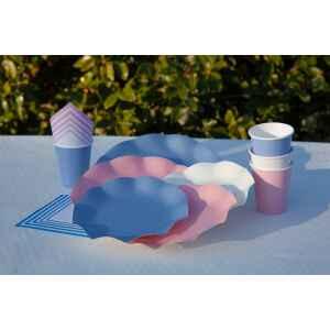 Piatti Piani di Carta Compostabile a Petalo Carta da zucchero 27 cm Extra