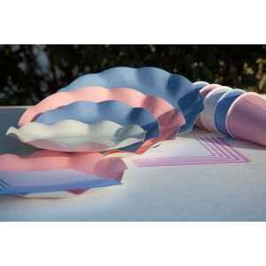 Piatti Piani di Carta Compostabile a Petalo Rosa quarzo 21 cm Extra