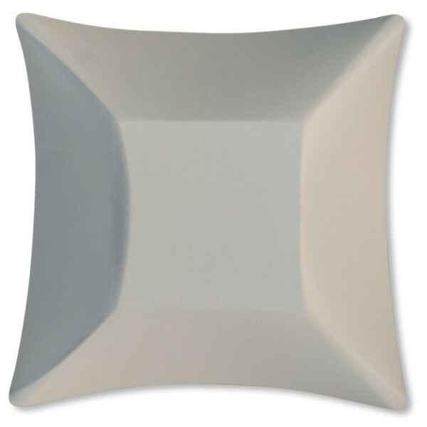 Piatti di Carta Quadrati Grandi Compostabile Wasabi Avorio 19,8 x 19,8 cm Extra