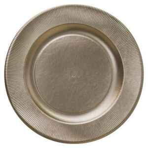 Piatti Piani di Carta a Righe Oro Metallizzato Satinato 32,4 cm Extra