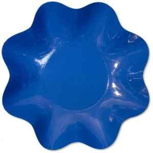 Zuppiera Grande di Carta a Petalo Blu cobalto 35 cm 1 pz Extra