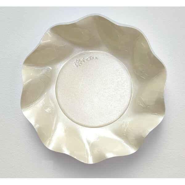 Piatti Fondi di Carta a Petalo Madreperla 18,5 cm Extra