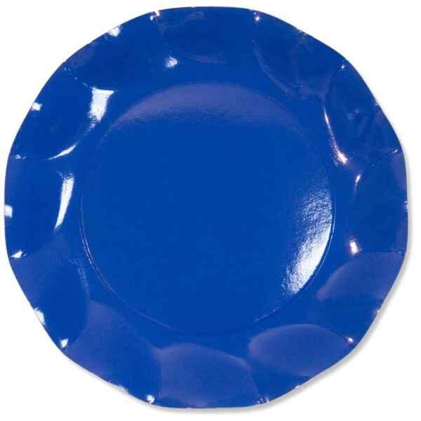 Extra Piatti Piani di Carta a Petalo Blu Cobalto 27cm