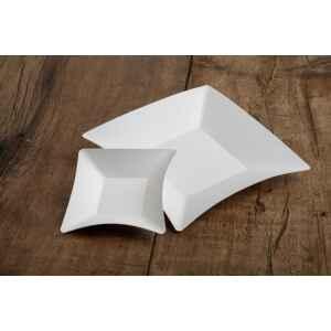 Piatti di Carta Quadrati Coppette Compostabile Wasabi Bianco 11,6 x 11,6 cm Extra