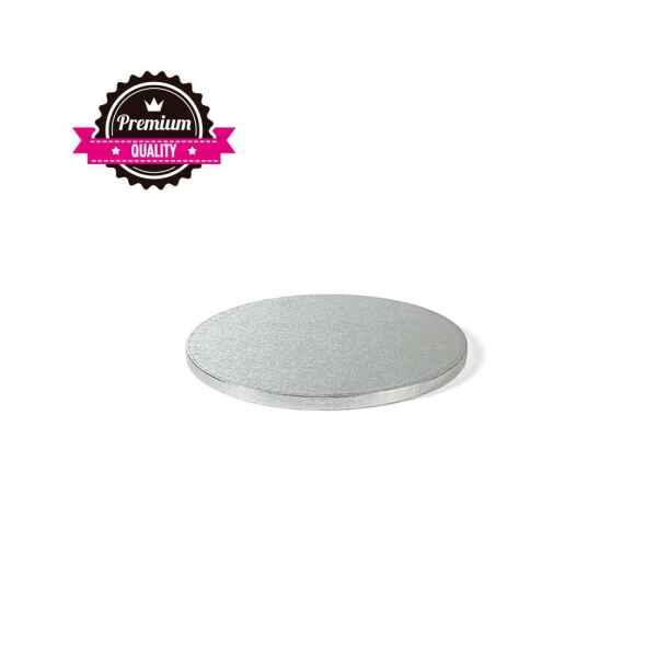 Sottotorta - Vassoio Rigido Tondo Argento H 1,2 cm Diametro 18 cm