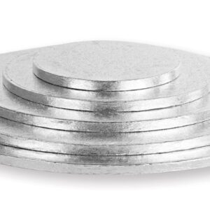 Sottotorta - Vassoio Rigido Tondo Argento H 1,2 cm Diametro 30 cm