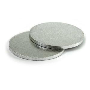 Sottotorta - Vassoio Rigido Tondo Argento H 1,2 cm Diametro 34 cm