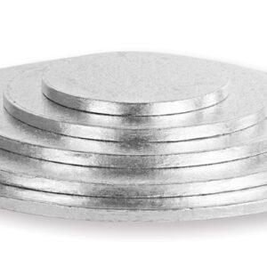 Sottotorta - Vassoio Rigido Tondo Argento H 1,2 cm Diametro 36 cm