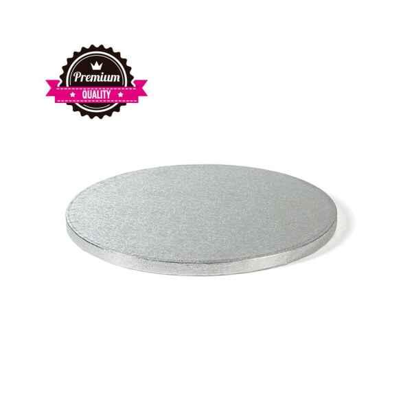 Sottotorta - Vassoio Rigido Tondo Argento H 1,2 cm Diametro 40 cm