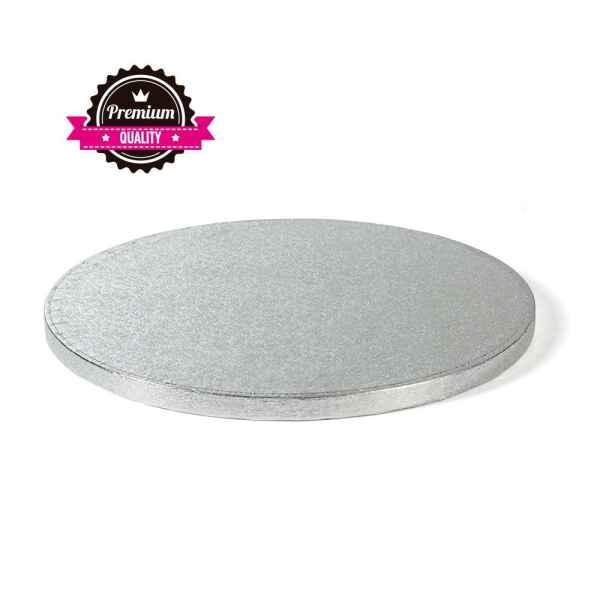 Sottotorta - Vassoio Rigido Tondo Argento H 1,2 cm Diametro 60 cm