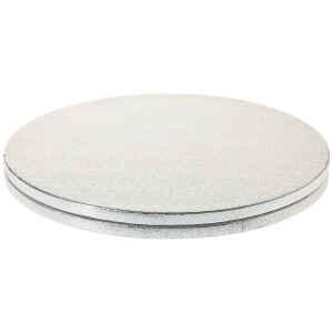 Sottotorta - Vassoio Rigido Tondo Argento H 1,2 cm Diametro 80 cm