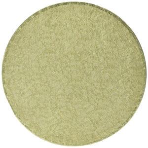 Sottotorta - Vassoio Rigido Tondo Oro H 1,2 cm Diametro 22 cm