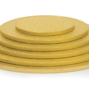 Sottotorta - Vassoio Rigido Tondo Oro H 1,2 cm Diametro 28 cm