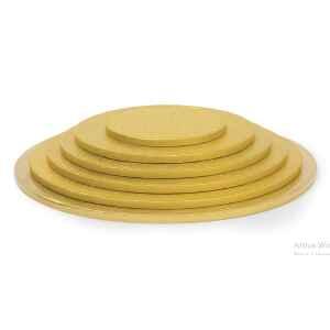 Sottotorta - Vassoio Rigido Tondo Oro H 1,2 cm Diametro 45 cm