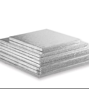 Sottotorta - Vassoio Rigido Quadrato Argento H 1,2 cm 20 x 20 cm