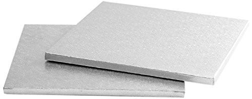Sottotorta - Vassoio Rigido Quadrato Argento H 1,2 cm 40 x 40 cm