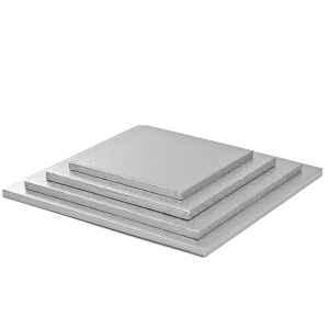 Sottotorta - Vassoio Rigido Quadrato Argento H 1,2 cm 45 x 45 cm