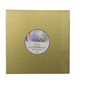 Sottotorta - Vassoio Rigido Quadrato Oro H 1,2 cm 20 x 20 cm