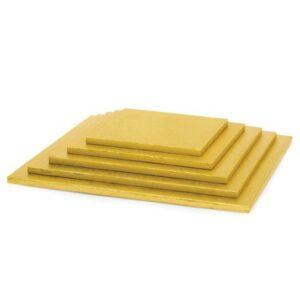 Sottotorta - Vassoio Rigido Quadrato Oro H 1,2 cm 30 x 30 cm