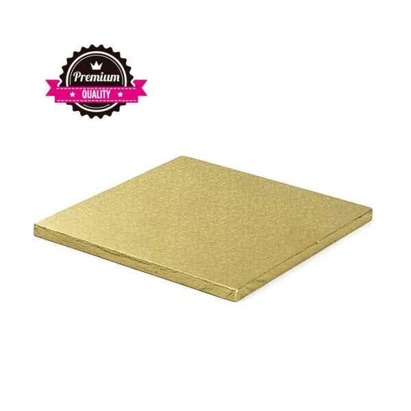 Sottotorta - Vassoio Rigido Quadrato Oro H 1,2 cm 40 x 40 cm