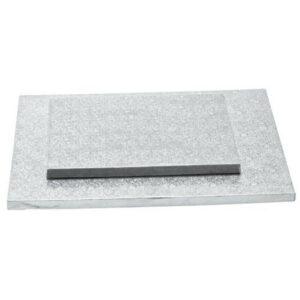 Sottotorta - Vassoio Rigido Rettangolare Argento H 1,2 cm 20 x 30 cm